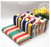 2014 new fashion lady's purse British wind stripe women wallets single zip purse women clutch purses