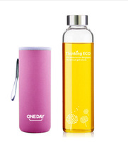 new 350 mloneday dandelion on-board portable environmental sealing glass kettle 500 ml handle glass cup water