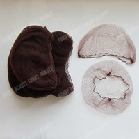 "Finest Nylon Beard cover with ""Elastic edge"" invisible hair nets 500pcs Dark Brown color 20inch length"
