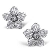 Arbitraging variaties platinum plated top cubic zirconia crystal  five petal flower earrings female birthday gift