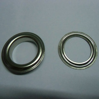 """25mm (1"""" Hole) Silver Curtain Grommets with Washers"""