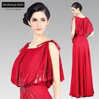 Chiffon Promotion Elegant Long Evening Dress 2014 New Arrival Formal Dresses Sequined For Prom Vestidos Femininos 31122