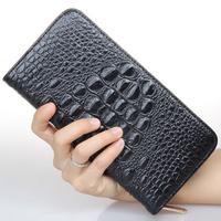 Leather Women Wallets Genuine Leather Women Clutch Wallets Crocodile Print Alligator Embossed Long Pure HB-172