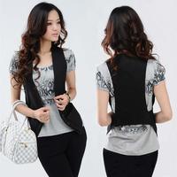 2014 plus size Women's waistcoat lady vest slim kaross Free shipping