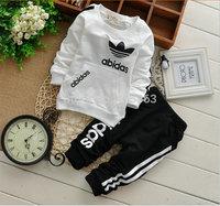 Wholesale 2014 children's clothing outfit kids baby boy girl clothes suits (jacket+pants) 2pcs children cotton clothing set