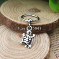 BN00177 10PCS/Lot Free Shiping captive bead ring cheap vintage alloy pendant tortoise nipple ring
