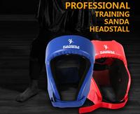 Professional boxing helmet kangrui sanda head protection flanchard wigs face mask