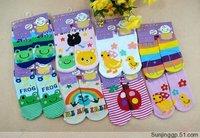 Free Shipping 6pairs/set New Cute Baby Socks Akubi Girl/Kid boy Slip-resistant Cartoon Floor Socks 0-3 Years boy socks