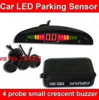 Genuine 4 probe sensor with small crescent buzzer parking sensor LED display radar Car LED Parking Sensor