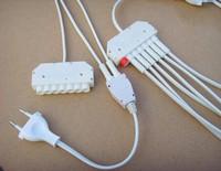 High Speed 6-Way  Power Splitter Cable Hub for led light bulb, LED Lights 1 To 6 Splitter Connector ,bulb Power Splitter cable
