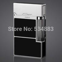 Hot sales 100% New vintage S.T Memorial dupont lighter cigarette lighter windproof copper body Black Silver series Bright Sound