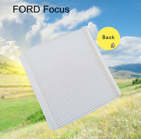 Low price wholesale pure white fiber car cabin air filter for Ford 9M59-18D543-AA auto part 24.4*21.8*1.7cm