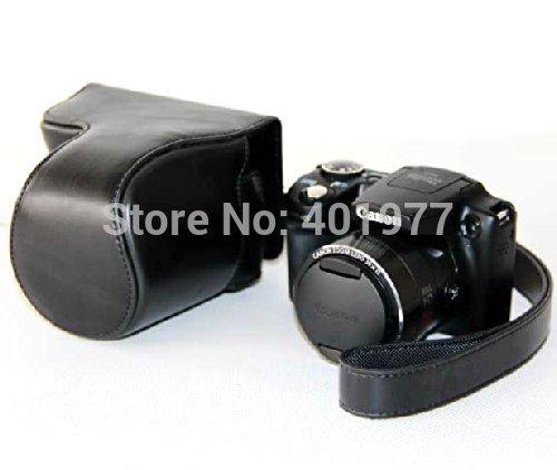 PU Leather Digital Camera Case Bag Cover for Canon SX510 Camera Bag Black(China (Mainland))