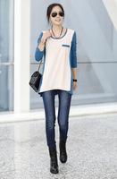 2014Autumn new Korean women loose casual long-sleeved T-shirt female