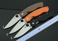 Free shipping  Hot sale spyderco  folding knivesC36 G10handle  5Cr13mov blade