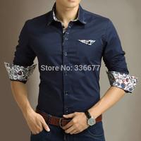 Free Shipping Mens Fashion Slim Fit  Long Sleeve Business Dress Shirts QR-5020