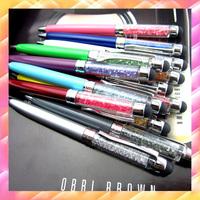 500 pcs/lot Crystal pen Diamond ballpoint pens Stationery gift ballpen Cristal caneta Novelty gift zakka Office material pen