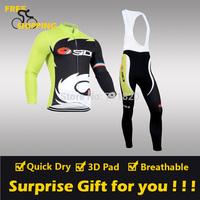 2014 Castelli sidi Fleece Thermal Long Sleeve and Bib Pants Cycling Jerseys /Wear/Clothing/Bicycle/Bike/Riding jerseys/Gel Pad