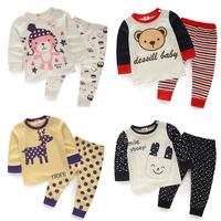 2014 new spring autumn children clothing boys girls underwear clothing baby kids sets child fashion cartoon underwear sets