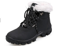 Winter women's leather increased thermal platform rivet warm boots ,women's snow boots cotton-padded shoes