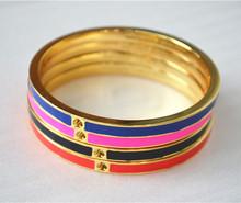 Free Shipping auth KS Color Enamel Heart Bracelet for Wedding Bridal Party(China (Mainland))