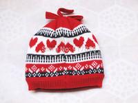 Winter Knitting Pattern Children Girls Beanie Hats Cap fleece lined