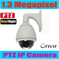 1.3MP Megapixel HD PTZ Dome IP Camera outdoor 150m IR Night View, 20x Optical Zoom IP Camera HD PTZ Pan Tilt zoom Support Onvif