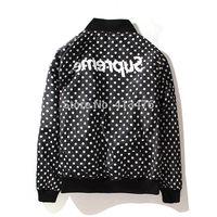 2014 supreme PYREX streetwear brand men's SATIN jacket Outerwear hoodies Baseball cotton padded Two-sided wear Skateboard boy
