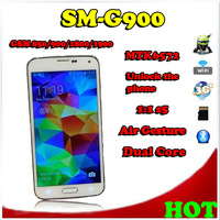 Free Shipping,SM-G900 1:1 S5 3G Android Phone CPU MTK6572 2.27GHZ,Dual Core,Air Gesture,5.0' HD Screen,GPS,Wifi.Hot Sale.