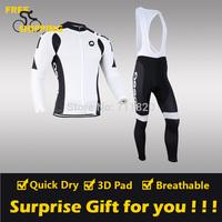 2014 ASSOS Fleece Thermal Long Sleeve and Bib Pants Cycling Jerseys /Wear/Clothing/Bicycle/Bike/Riding jerseys/Gel Pad