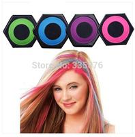 NEW 4 colors Temporary Hair Color Tiza Del Pelo Hot Pink Blue Fuchsia Neon Green Beauty Hair 4piece Hair Chalk