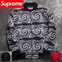 2014 best version supreme PYREX streetwear brand men's SATIN jacket Outerwear hoodies Baseball cotton padded embroidery totem