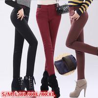 S/M/L/XL/XXLsize women trousers 2014 Winter new fashion Korea style plus size thick women cotton blends pencil pants trousers