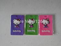 10pcs/lot  Hello kitty luggage tag pvc travel id name tag baggage tag free shipping
