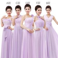 Mission purple long dress bridesmaid dress female flower lace chiffon bridesmaid dresses china free shipping sexy fashion 416