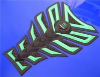 Free shipping 10PCS For DERBI BENELI APRILIA YAMAHA HONDA 3D Decal Sticker Motorcycle Polyester  Rubber Tank Pad Protector Green