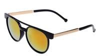 2014 new arrive fashion 20 pcs /lot madness brand men  women classical  round   sunglasses with gold leg    uv400