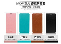 Free shipping MOFI New Rui series case for Alcatel One Touch Idol X+ 6043D flip side cover smart phone leather case MR01
