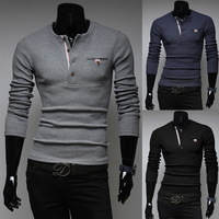 2014 autumn Men's fashion Woven strips Simple casual sweaters male plus size knitted pullover bottoming knitwear for man