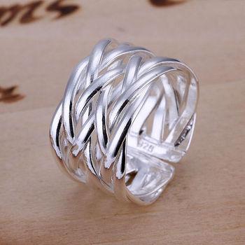 Серебро 925 новинка женские украшения регулируемые кольца бесплатная доставка оптовая ...