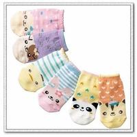 Free Shipping 6pairs/set New Cute Baby Sock Akubi Girl/Kid boy Dispensing Slip-resistant Cartoon Floor Socks 0-2 Years boy socks