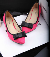 2014 Fashion all-match brief ol pointed toe velvet with the single shoes women's shoes plus size available S055#