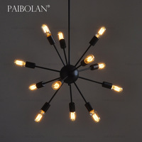 New Retro Design Nostalgic vintage american country industrial pendant Chandelier Iron lamp
