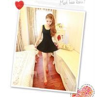 2014 New Arrival Fashion Women's Summer Sleeveless Slim O-Neck Basic Bottom Tank Dresses,Free Shipping