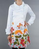casual printed trench women  White  windbreaker abrigos mujer Spain fashion brand windbreaker women