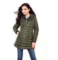 2014 New European and American Fashion Long Section of Hooded Cowboy Splicing Woman Jacket, Fashion Casual Winter Coat for Women