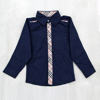 High Quality Kid Shirt Solid Color 100% Cotton Kids Clothes Blouse Baby boys Pocket shirts Casual Kids & Baby boys shirts S05