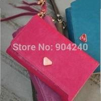Fashional Girl  Women's Leather Clutch Wallet PU Card Purse Women Slim Handbag Cute for Galaxy S2 S3 iphone 4 4S 5 Case
