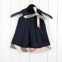 Retail 2015 Baby girl fashion dress  kids plaid summer dresses  girls Brand dress princess baby dress sleeveless white Red #628