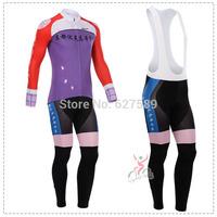 cyclingbox 2014 Cycling Jersey bib kit long Sleeve bib pants Cycling tight ropa Ciclismo fitness clothes Maillot MTB